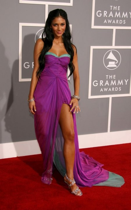 Nicole Scherzinger Purple Evening Shoes