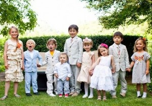 Children Entertained At A Wedding