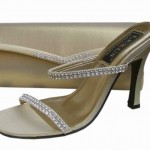 gold evening sandals