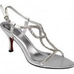 Silver strappy sandal