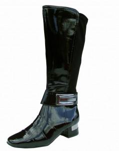 patent knee high ladies boots