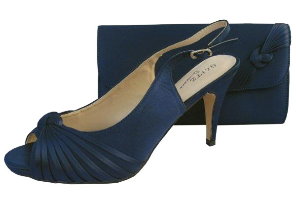 Navy wedding shoes and matching bag annabel navy evening shoes junglespirit Choice Image