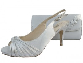 Annabel Silver Evening Shoes