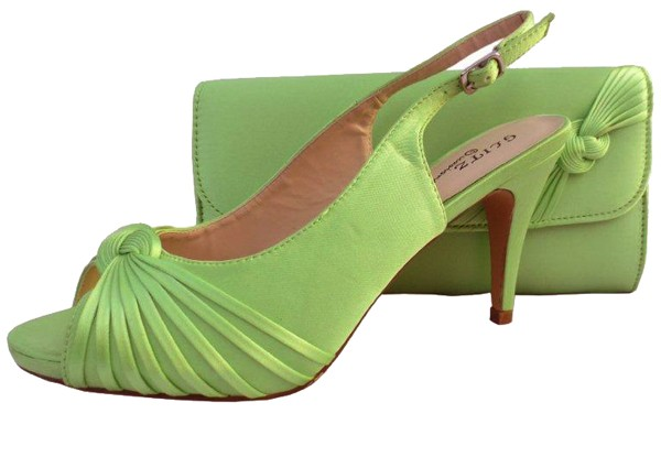 Lime Green Wedding Shoes And Matching Bag