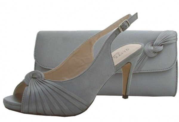 Pewter Wedding Shoes and Matching Bag