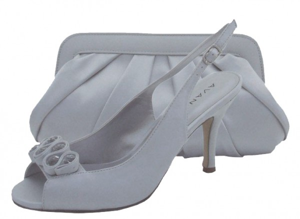 2a74da4f15f5 Menbur Avance Pearl Grey Peep Toe Shoes. Hover over image to zoom. Click to  enlarge
