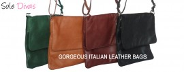 Italian Leather Cross Body Bag Tan