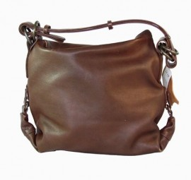 Brown Leather Grab Handbag