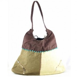 Summer Linen Square Bag Khaki