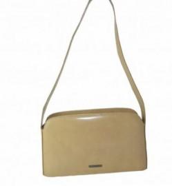 Claudio Ferrici Italian Beige Leather Designer Handbag