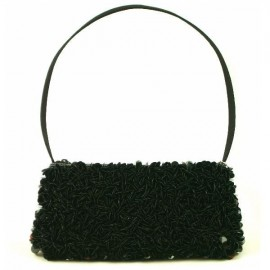 Naomi Black Sequined Evening Bag