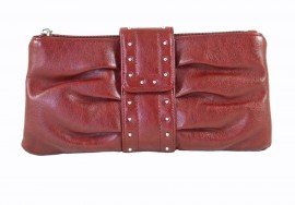 Red Stud Clutch Bag