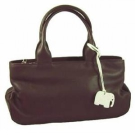 Touch Leather Handbag Brown Medium