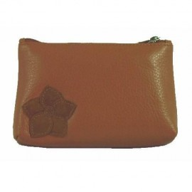 Leather Coin Purse Tan