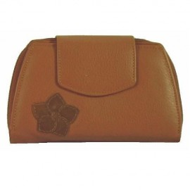 Leather Purse Wallet in Tan