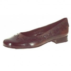 Carmel Brown Leather Flat Shoe