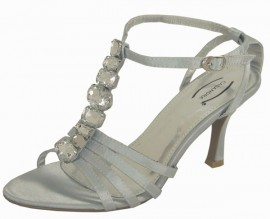 Cassandra Diamante Silver Evening Sandals