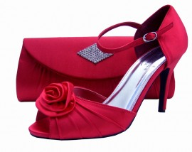Cassie Red Evening Shoes