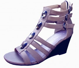 Cecilia Cigar Brown Wedge Gladiator Sandals