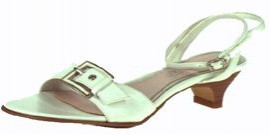 Chloe White Leather Flat Sandals