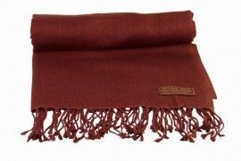 Pashmina Stole in Chocolate Brown