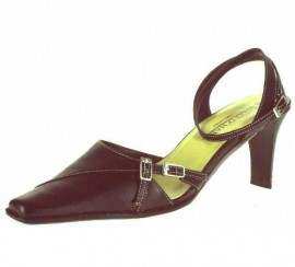 Claudia Black Leather Heeled Shoes
