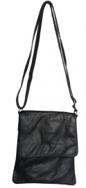 Italian Leather Cross Body Bag Black