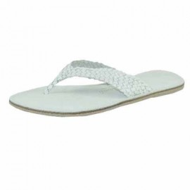 Danielle White Leather Toe Post Sandals