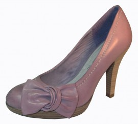 Dawn Lilac Leather Heeled Ladies Shoes