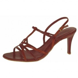 Debbie Mocca Brown Heeled Sandals