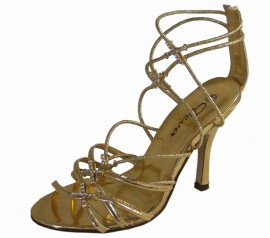 Deva Ladies Gold Evening Sandals