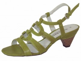 Eva Pistachio Green Heeled Sandals