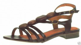 Evelyn Cafe Brown Gladiator Sandals