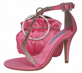 Bernice Candy Pink Evening Sandals