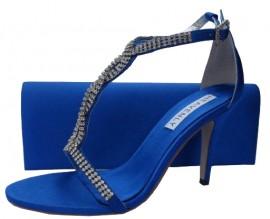 Bernice Royal Blue Evening Sandals