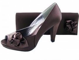 Rosebud Express Brown Evening Shoes