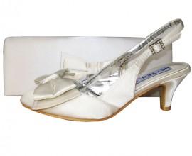 Twee Ivory Satin Slingback Ladies Shoe