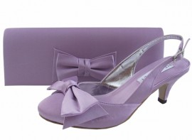 Twee Lilac Satin Clutch Bag
