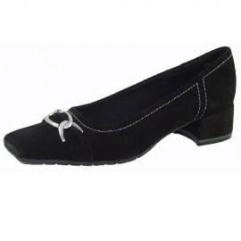 Helen Black Suede Flat Shoes