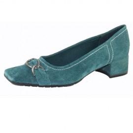 Helen Petrol Flat Shoe