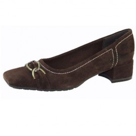 Helen Mocca Brown Flat Shoe