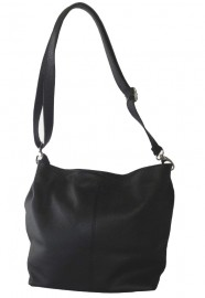 Italian Leather Hobo Bag Black
