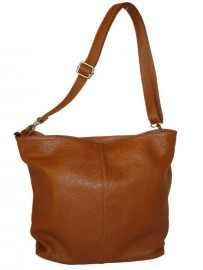 Italian Leather Hobo Bag Tan