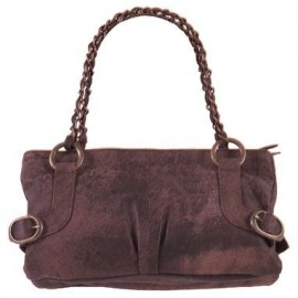 Isla Washed Leather Brown Handbag