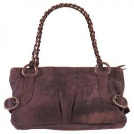 Isla Washed Leather Brown Handbag