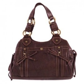 Iva Brown Leather Handbag