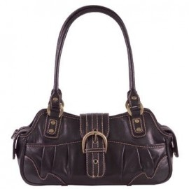 Ivana Black Leather Handbag