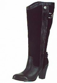 Joanna Black Leather Suede Ladies Boots