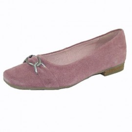Jules Pink Suede Flat Shoes