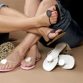 Kirsty Black Toe Post Sandals